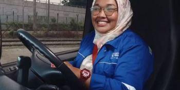 Siti Rahimah Binti Makmur, conductora, camiones, Scania, Malasia,
