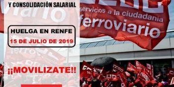 CCOO, convoca, jornada, huelga, Renfe, julio,