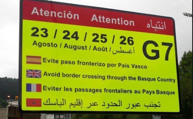 restricciones., camiones, cumbre, G7, Biarritz,