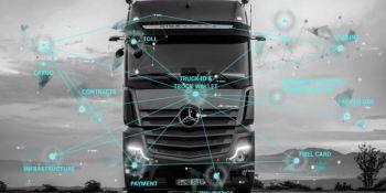 Daimler Trucks, enseña, camiones, pagar, comunicarse, máquinas,