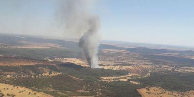 incendio, forestal, generado, vuelco, camión, corta, N-430,