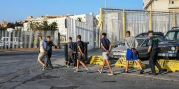 interceptados, migrantes, ocultos, camiones, operación, fin, feria, Ceuta, vídeo,