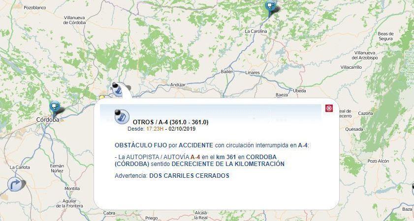 fallecen, camioneros, colisión, A-4, cortada, sentido, Madrid, Montoro,
