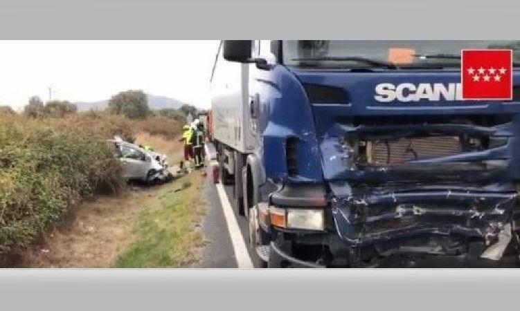 fallece, joven, colisión, frontal, camión, M-602, ,