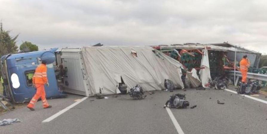 camionero, herido, A-231, Calzada del Coto,