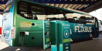 autobús, medio, transporte, larga, distancia, sostenible, estudio,