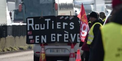 lunes, huelga, Francia, cortes, carreteras,