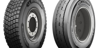 neumáticos, invierno, Michelín, camión,