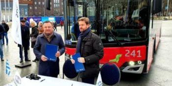 Tallin, Estonia, autobuses, gas, 2020,