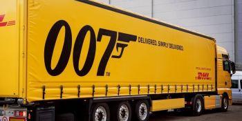 DHL, película, trnsporte, James Bond, empresas,