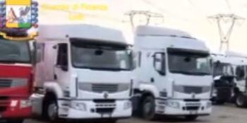 incautados, camiones, Italia, semirremolques,