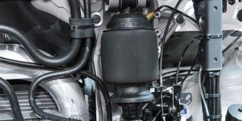 Muelles neumáticos HiTemp para la suspensión de las cabinas de los camiones