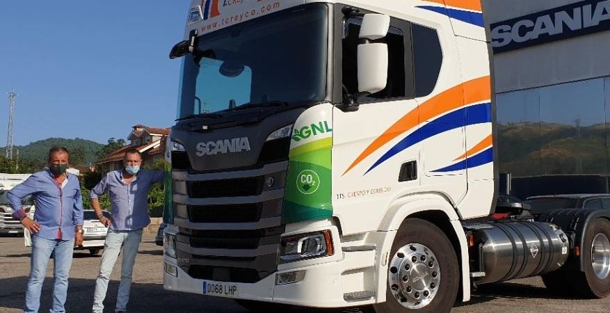 Transportes Crespo y Cousido apuesta por el gas en Galicia de la mano de Scania
