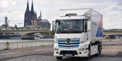 El camión eléctrico de Mercedes-Benz comienza a trabajar en Colonia