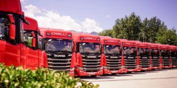La empresa Casilli Enterprise de Nápoles estrena camiones Scania a gas