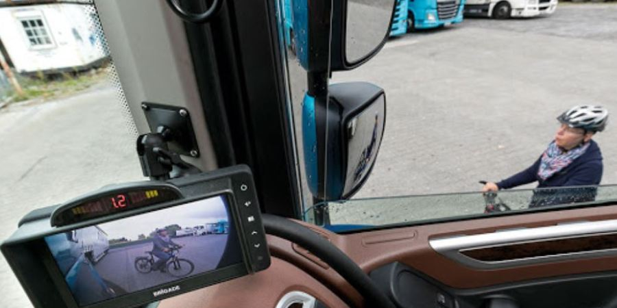 Las cámaras en los camiones mejoran significativamente la seguridad en la conducción