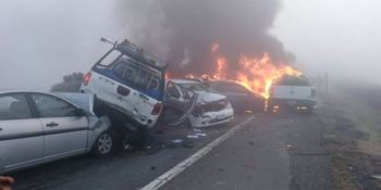 2 fallecidos y 5 heridos en un accidente múltiple en Chile