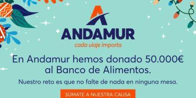 Andamur dona 50.000 euros al Banco de Alimentos activando el reto solidario