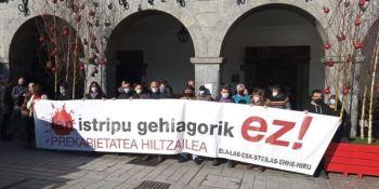 Los sindicatos vascos protestan por los accidentes laborales en Azpeitia y Andoain