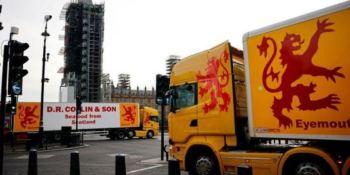 Pescadores, armadores y transportistas escoceses protestan en Londres