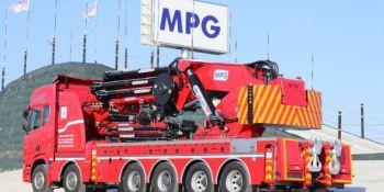 Chasis Scania con grúas MPG para JK Kran