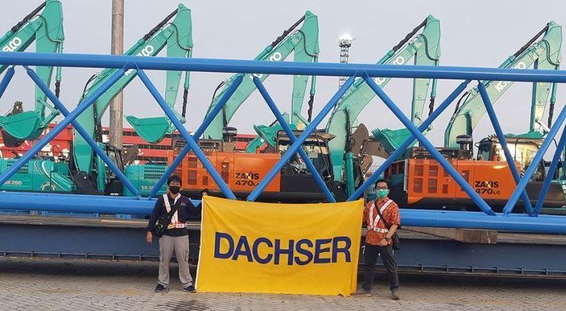 Transporte especial con Dachser: una grúa cruza desde Europa al Sudeste Asiático