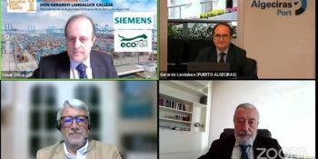 """El presidente del Puerto de Algeciras advierte que """"la competencia internacional no da tregua"""". Vídeo"""