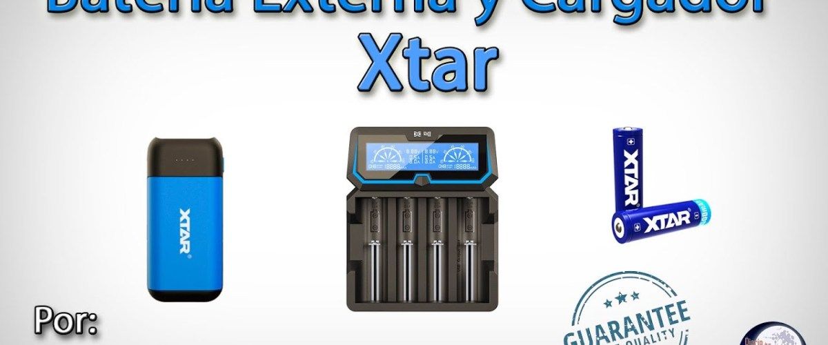 Xtar Batería y Cargador para nuestras salidas y linternas.