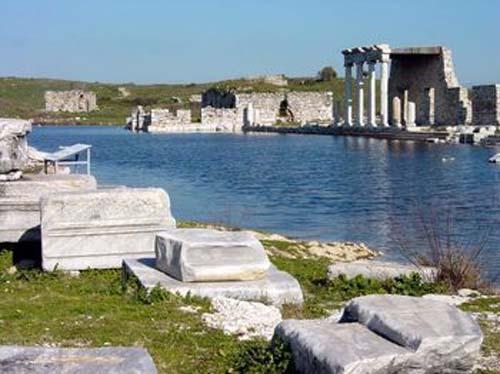 Restos actuales de la ciudad de Mileto