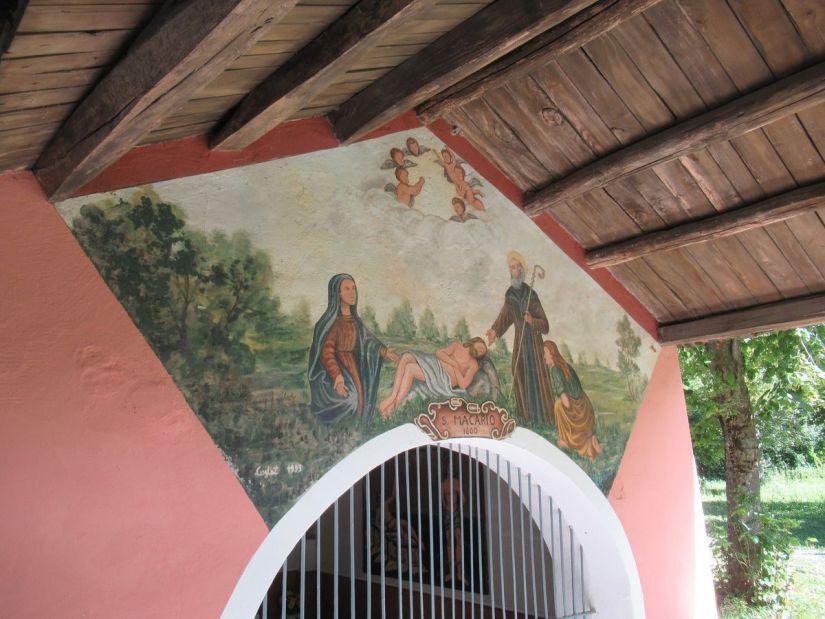 affresco nella cappella di San Macario a Vernante
