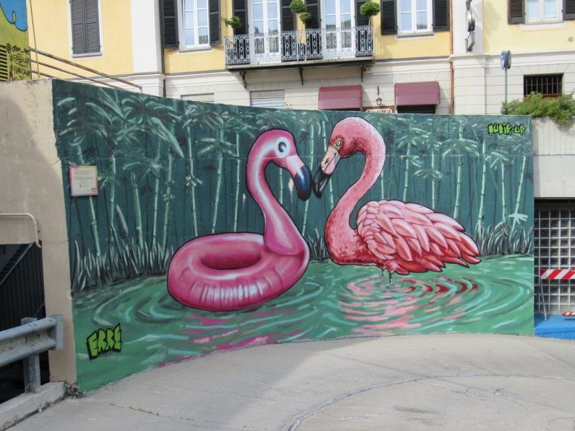 street art in piazza Boves a Cuneo