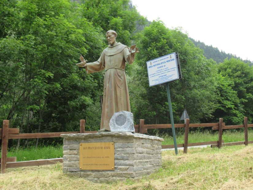 San Francesco fa la predica al lupo e agli uccelli