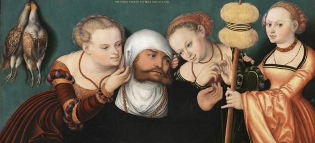 El Thyssen restaura y exhibe 'Hércules en la corte de Onfalia', del desafortunado Hans Cranach