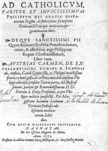 pimer libro dedicado de juan latino