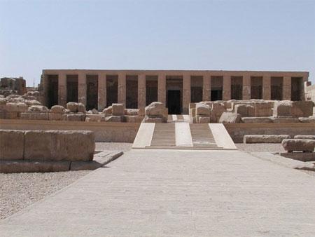 El templo funerario de Seti I en Abido