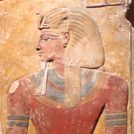 Retrato en relieve de Seti I en un pilar (Neues Museum