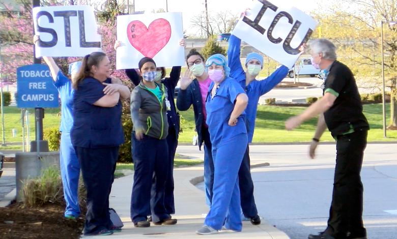 Miembros de la UCI en Missouri Baptist Hospital en St.Louis - Foto: J.Klein©2020