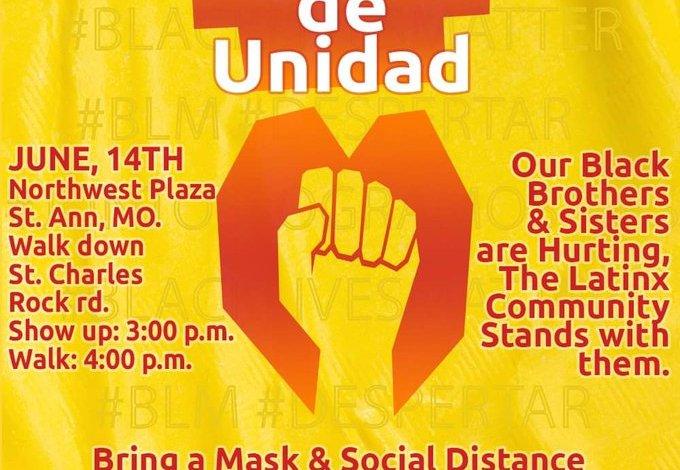 Marcha Latinx en St.Ann el 14 de Junio, 2020