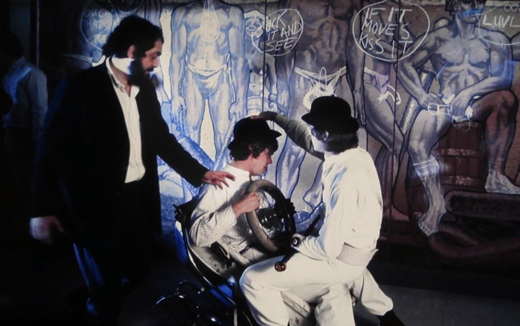 A Clockwork Orange, Stanley Kubrick prepara una scena