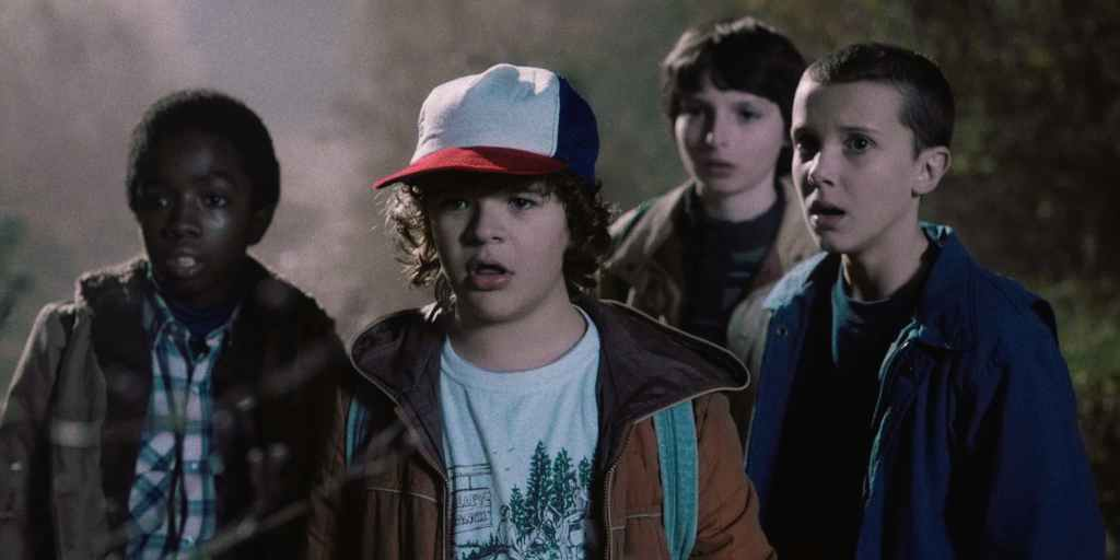 Stranger Things, Lucas, Dustin, Mike e Eleven in azione