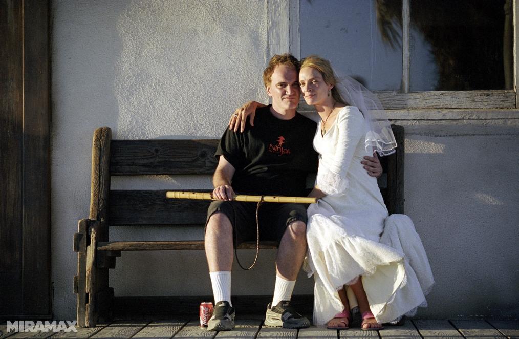 Kill Bill, Quentin Tarantino & The Bride sul set