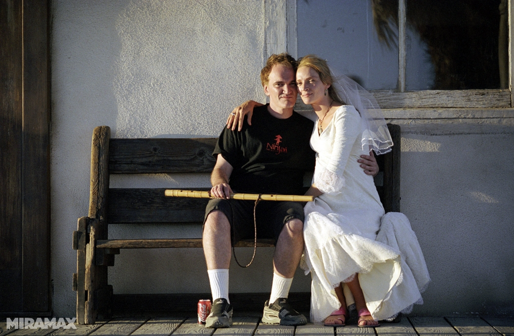 Kill Bill, Quentin Tarantino & The Bride sul set