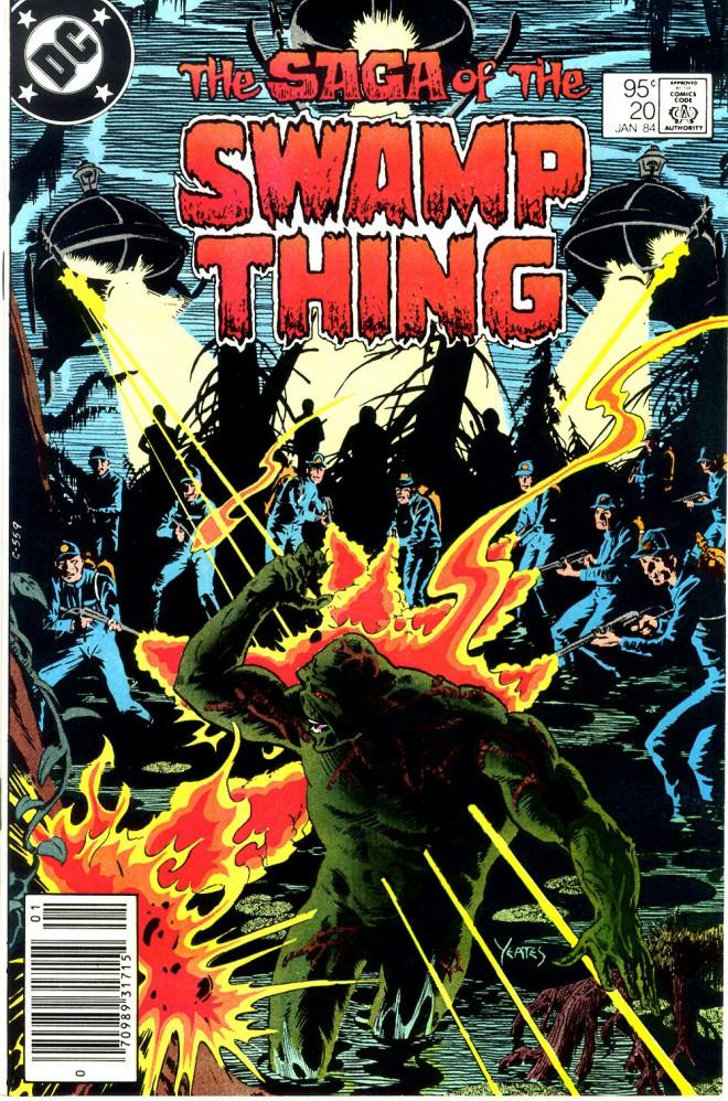 Swamp Thing, la copertina del primo numero scritto da Alan Moore