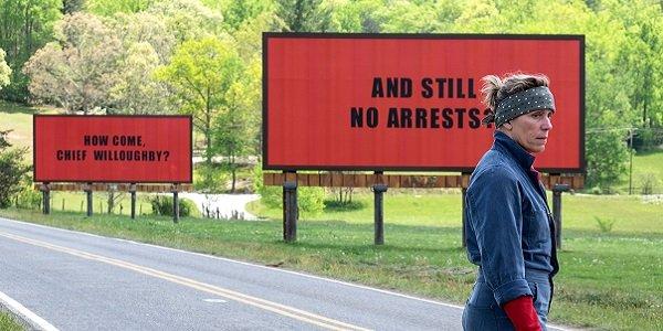 Three Billboards Outside Ebbing, Missouri, Frances McDormand sul set