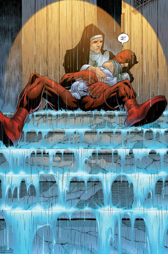 Daredevil Guardian Devil, un'immagine evocativa del fumetto di Kevin Smith