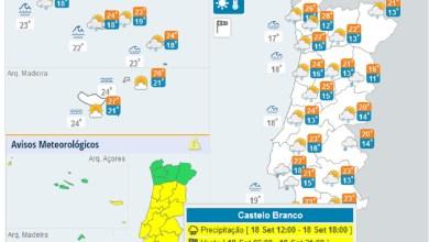 Photo of Depressão «99L» coloca Portugal sob 'aviso amarelo' esta sexta-feira