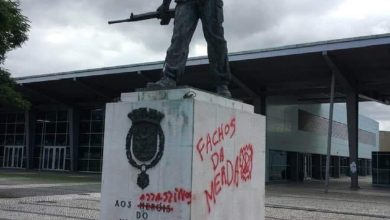 Photo of Monumento aos Heróis do Ultramar vandalizado
