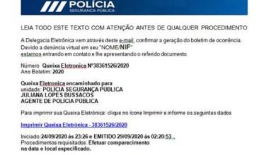 Photo of PSP alerta para email fraudulento sobre queixa eletrónica