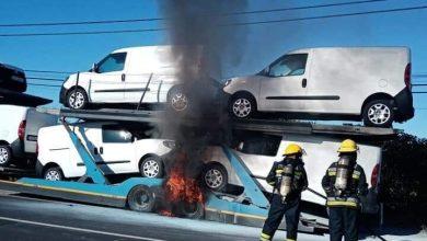 Photo of Incêndio em camião no Montijo mobilizou bombeiros