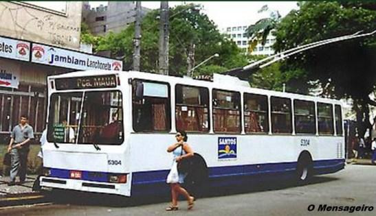 Companhia pública de transportes de Santos adquiriu trólebus Mafersa no final dos anos de 1980